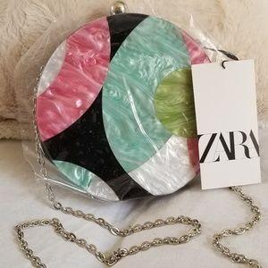 Zara multiple color round bag